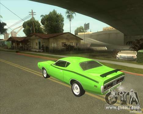 1971 Dodge Charger Super Bee for GTA San Andreas left view