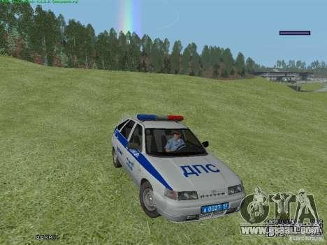 LADA 2112 DPS Police for GTA San Andreas