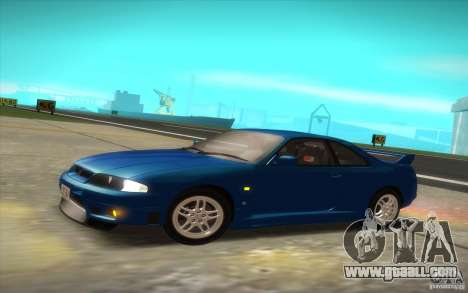 Nissan Skyline R33 GT-R V-Spec for GTA San Andreas back left view