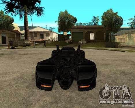 Batmobile for GTA San Andreas back view