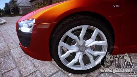 Audi R8 V10 for GTA 4 back left view