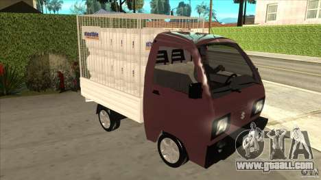 Suzuki Carry 4wd 1985 Abastible for GTA San Andreas back view
