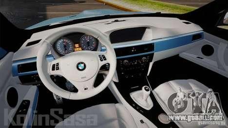BMW E92 M3 Threep Edition for GTA 4 back view