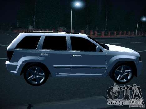 Jeep Grand Cherokee SRT8 for GTA San Andreas back left view
