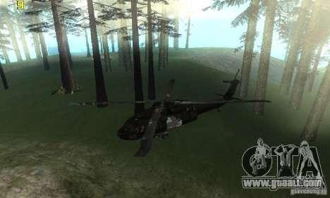UH-60M Black Hawk for GTA San Andreas right view
