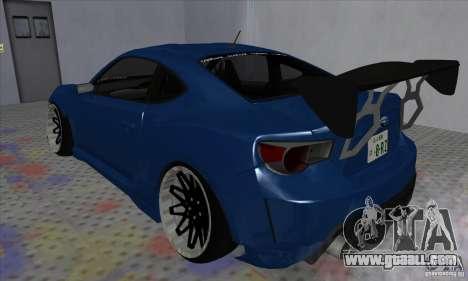 Subaru BRZ JDM for GTA San Andreas left view