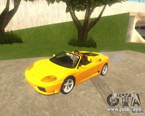 Ferrari 360 Spider for GTA San Andreas