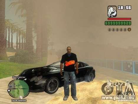 THE MIZ T-shirt for GTA San Andreas fifth screenshot