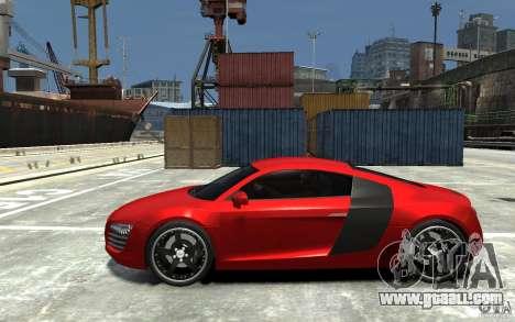 Audi R8 2008 for GTA 4 left view