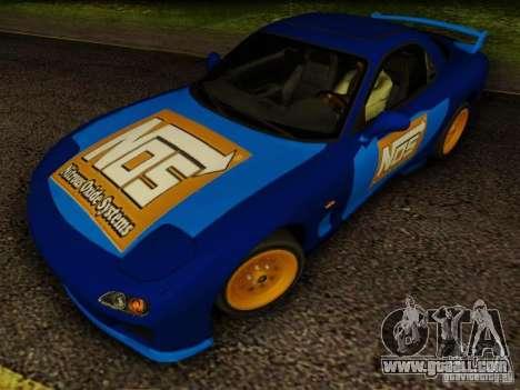 Mazda RX7 Nos for GTA San Andreas