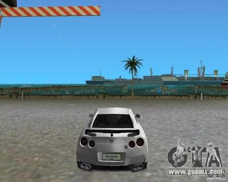 Nissan GT R35 Vspec for GTA Vice City left view