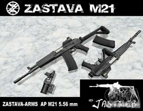 Zastava Arms M21 Final for GTA San Andreas
