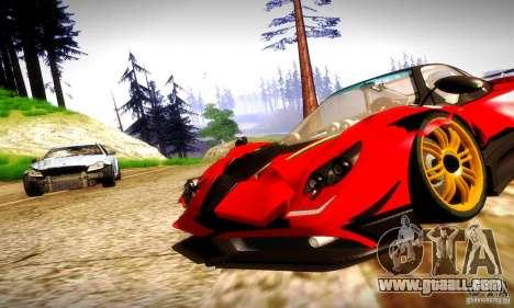 Pagani Zonda Tricolore V2 for GTA San Andreas back view