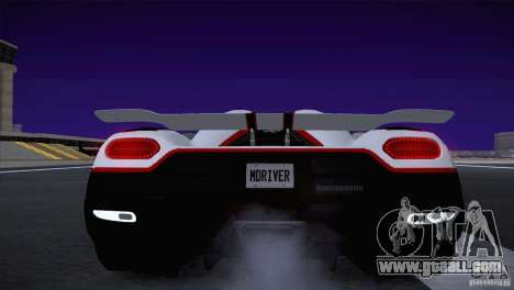 Koenigsegg Agera R 2012 for GTA San Andreas side view