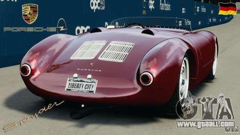 Porsche 550 A Spyder 1956 v1.0 for GTA 4 back left view