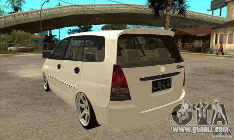Toyota Innova Lowrider Rims 2 for GTA San Andreas back left view