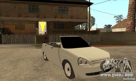 VAZ LADA Priora convertible for GTA San Andreas back view