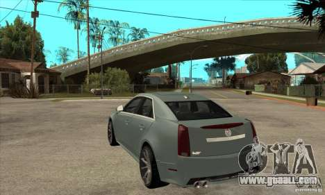 Cadillac CTS-V for GTA San Andreas back left view