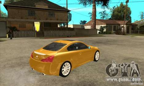 Infiniti G37 Coupe Sport for GTA San Andreas inner view
