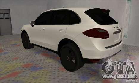 Porsche Cayenne Turbo Black Edition for GTA San Andreas right view