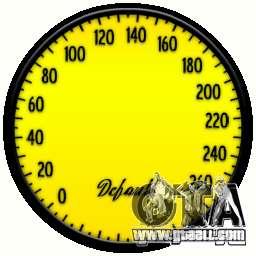 Speedometer IV (Skin 5) for GTA 4