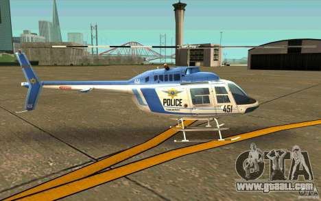 Bell 206 B Police texture1 for GTA San Andreas back left view