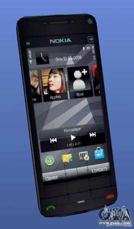 Mobile phone Nokia X 6 for GTA 4