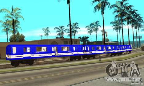 Liberty City Train Sonic for GTA San Andreas left view