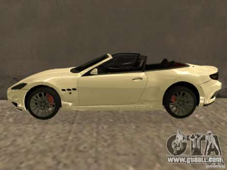 Maserati GranCabrio 2011 for GTA San Andreas left view
