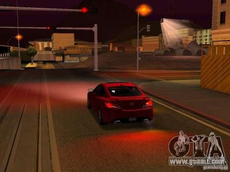 Hyundai Genesis Coupé 3.8 Track v1.0 for GTA San Andreas engine