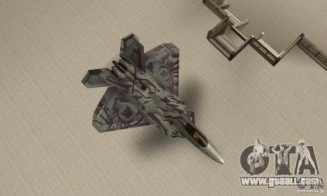 F-22 Starscream for GTA San Andreas right view