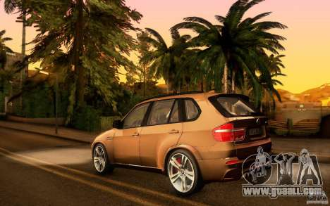 BMW X5M  2011 for GTA San Andreas inner view