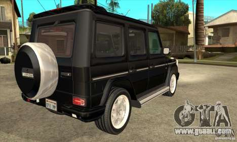 Brabus B11 W463 2008 v1.0 for GTA San Andreas right view
