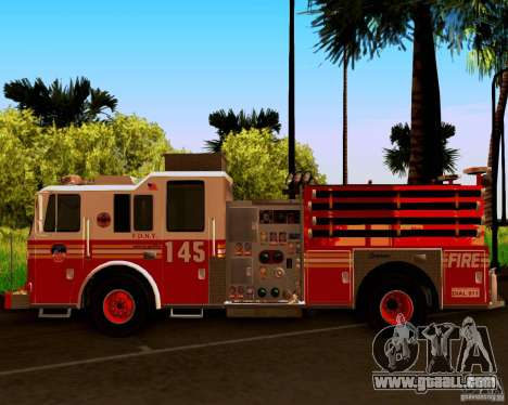 Pumper Seagrave Marauder F.D.N.Y for GTA San Andreas back view