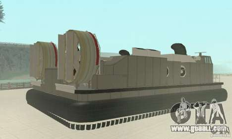 Landing Craft Air Cushion for GTA San Andreas left view