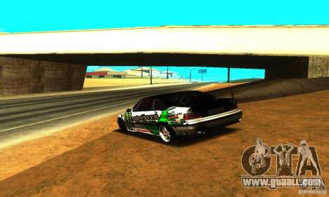 BMW E36 Drift for GTA San Andreas back view