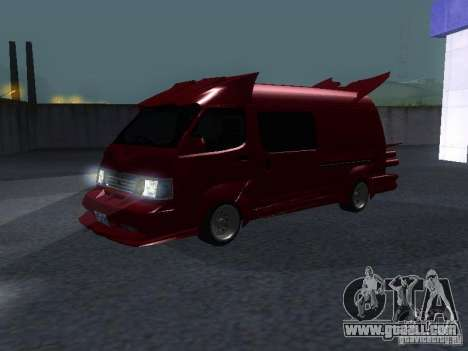Toyota Hiace Vanning for GTA San Andreas left view