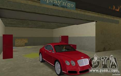 Bentley Continental GT (Final) for GTA Vice City back view