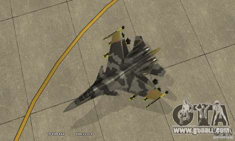 Su-37 Terminator for GTA San Andreas right view