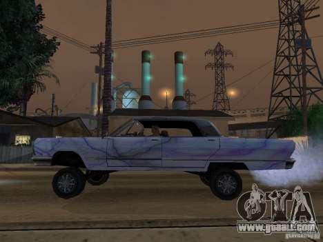 New Savanna-new paint work for GTA San Andreas