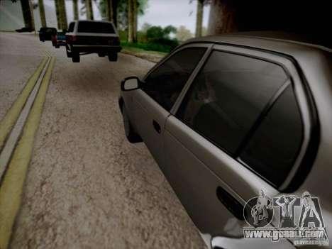 Toyota Corolla for GTA San Andreas upper view