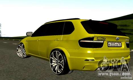 BMW X5M Gold for GTA San Andreas right view