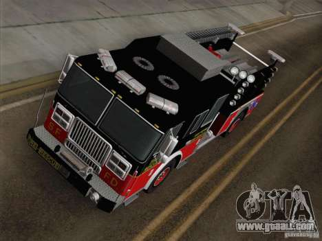 Seagrave Marauder Engine SFFD for GTA San Andreas back view