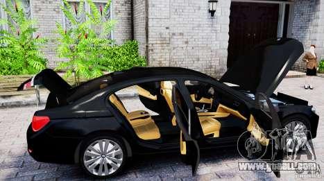BMW 750Li for GTA 4 back left view
