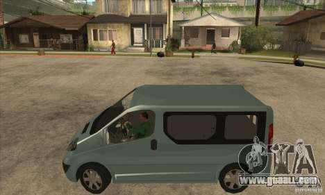 Opel Vivaro for GTA San Andreas left view
