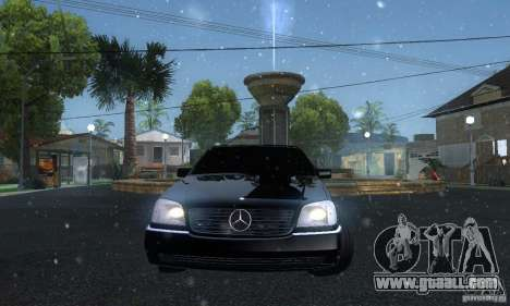 Mercedes-Benz 600SEC for GTA San Andreas back view