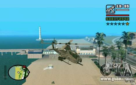 Bell AH-1Z Viper for GTA San Andreas back left view