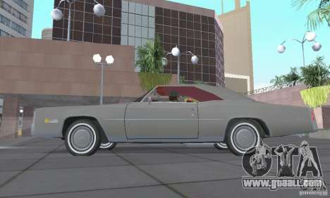 Cadillac Eldorado Convertible 1976 for GTA San Andreas back view