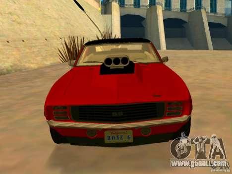 Chevrolet Camaro SS Custom for GTA San Andreas