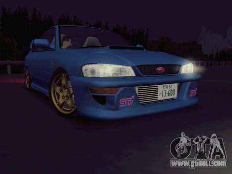 Subaru Impreza WRX GC8 InitialD for GTA San Andreas left view
